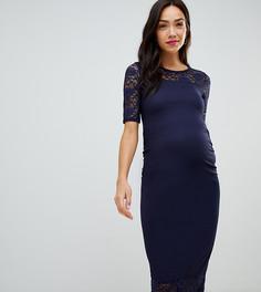 Платье миди с кружевным вставками Bluebelle Maternity - Синий