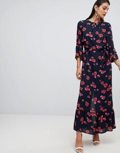 Платье макси с принтом Selected Femme - Мульти