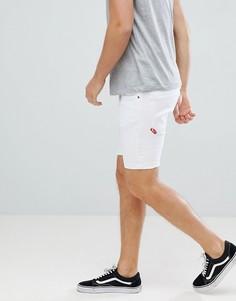 Белые джинсовые шорты скинни 11 Degrees - Белый