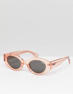 Овальные солнцезащитные очки Quay Australia See Me Smile - Розовый