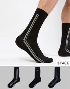 Комплект из 3 пар черных носков Ben Sherman - Черный