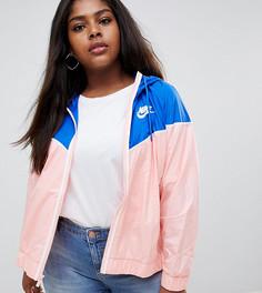 Розово-синяя ветровка Nike Plus - Розовый