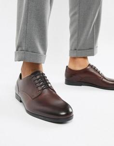 Кожаные туфли винного цвета H By Hudson Axminster - Красный