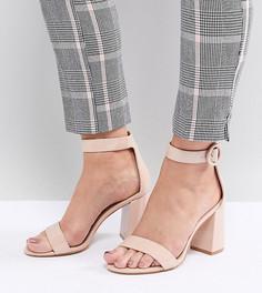 Лакированные босоножки на блочном каблуке для широкой стопы RAID Genna - Бежевый