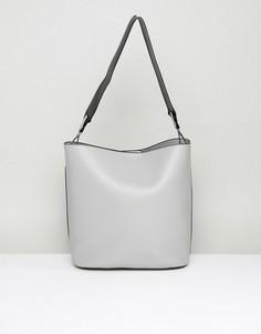 Структурированная сумка на плечо с тканым ремешком Park Lane - Серый