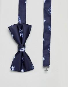 Галстук-бабочка с цветочным принтом Jack & Jones - Синий