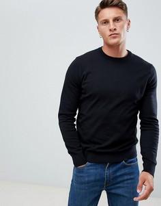 Черный джемпер с круглым вырезом Burton Menswear - Черный
