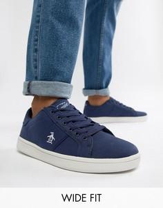 Темно-синие парусиновые кроссовки для широкой стопы Original Penguin  Stedaman - Синий 0a61fdbb41e84