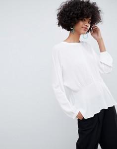 Блузка с баской Selected Femme - Белый