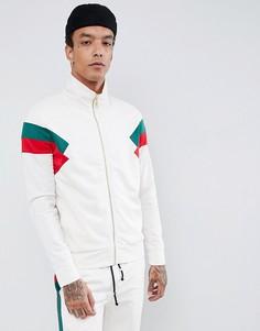 Белая спортивная куртка с красными полосками по бокам Criminal Damage - Белый