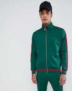 Зеленая спортивная куртка с красными полосками по бокам Criminal Damage - Зеленый