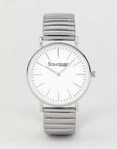 Часы с белым циферблатом и серебристым ремешком Stratford - Серебряный