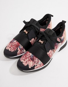 abcd234e0916e4 Черные кроссовки с цветочным принтом Ted Baker - Мульти
