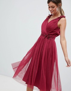 Платье для выпускного с V-образным вырезом Little Mistress - Красный