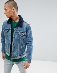 Куртка цвета индиго с искусственным мехом Levis Type 3 - Темно-синий Levis®