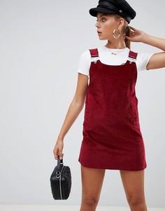 Вельветовое платье-сарафан Missguided - Красный