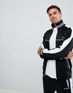 Черная спортивная куртка с полосками по бокам Diesel S-Roots - Черный