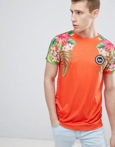 Красная футболка с тропическим принтом Hype - Красный