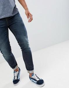 Выбеленные джинсы скинни United Colors of Benetton - Синий