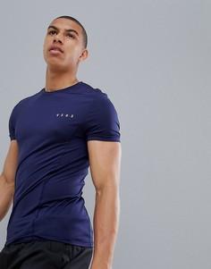 Темно-синяя облегающая футболка ASOS 4505 - Темно-синий