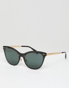 Солнцезащитные очки кошачий глаз Ray-Ban 0RB3580 - Черный