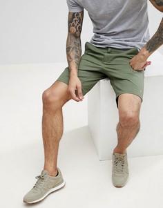 Зеленые саржевые шорты чиносы Farah Hawk - Зеленый