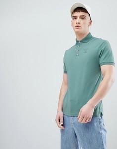 Зеленая футболка-поло с логотипом Hackett Mr. Classic - Зеленый