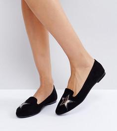 Обувь на плоской подошве со звездами London Rebel - Черный