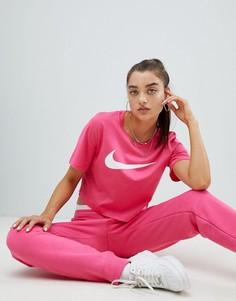 Розовая футболка с круглым вырезом и логотипом Nike - Розовый