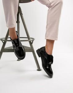Черные туфли на плоской подошве с заклепками Lost Ink - Черный