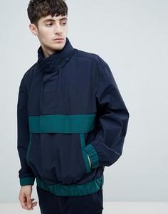 Темно-синяя куртка с зелеными вставками BOSS Okroos - Темно-синий