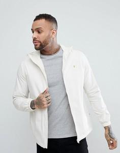 Серо-белая куртка на молнии с капюшоном Farah Smith - Белый