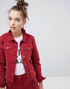 Приталенная джинсовая куртка Only - Красный