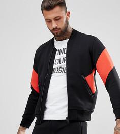 Красная спортивная куртка с полосками Diesel - Черный