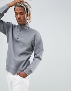 Серый свитшот классического кроя с молнией Carhartt WIP Chase - Серый