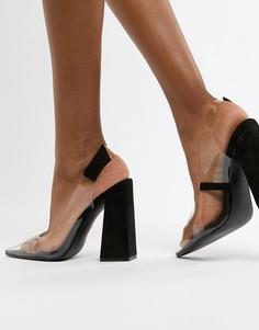 Черные туфли на блочном каблуке Public Desire Lure - Черный