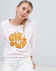 Свитшот с принтом Only Terry girl power - Розовый