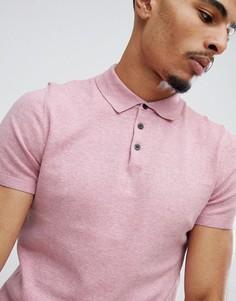 Розовый джемпер с воротником поло Burton Menswear - Розовый