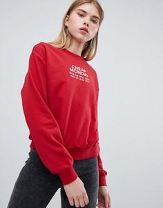 Свитшот с логотипом на груди Cheap Monday - Красный