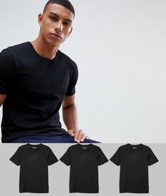 3 футболки с круглым вырезом BOSS bodywear - Черный