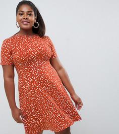Чайное платье мини в горошек ASOS DESIGN Curve - Мульти