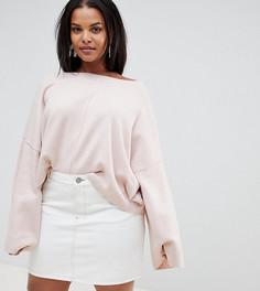Укороченный оversize-джемпер Micha Lounge Curve - Розовый