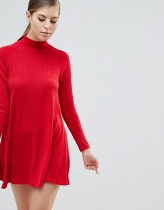 Платье-джемпер с длинными рукавами AX Paris - Красный