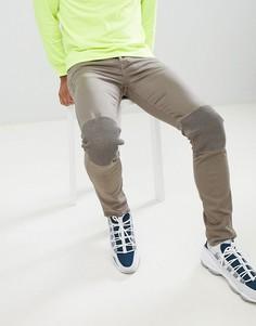 Байкерские джинсы скинни Sixth June - Серый