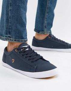 Темно-синие парусиновые кроссовки Farah Vintage Brucey - Темно-синий