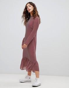 Платье миди в горошек Glamorous - Красный