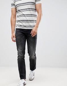 Черные узкие джинсы с отворотами Jack & Jones - Черный