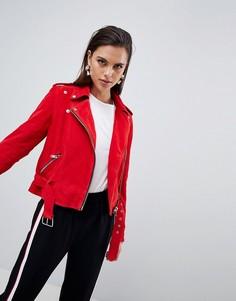 Замшевая байкерская куртка Y.A.S - Красный