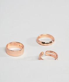 3 золотисто-розовых кольца Icon Brand - Золотой