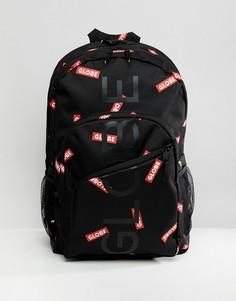 Черный рюкзак с принтом логотипа Globe - Черный